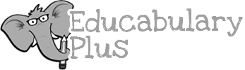 In Association with Educabulary Plus - Black & White Logo