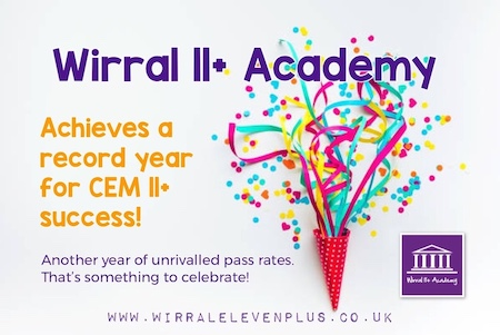 Wirral 11+ Academy Achieves A Record Year for CEM 11+ Success | Wirral Eleven Plus Academy | Maths, English, Verbal & Non-Verbal Reasoning | Tutoring Services | Tutor | Tutors | Tuition | Wirral | 11+ Exam | CEM